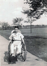 1947 -Billy at the Shriners Hospital, Chicago